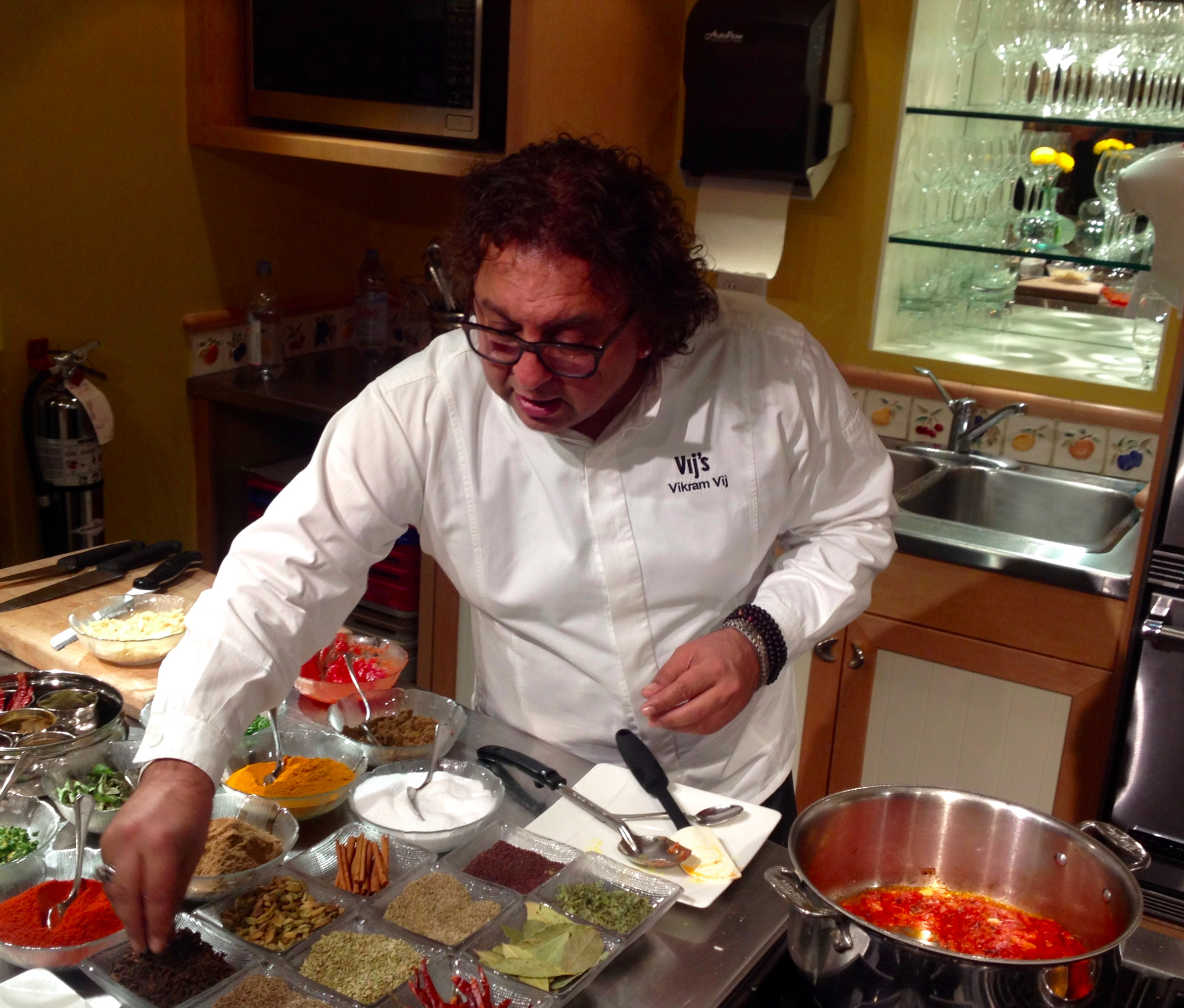 Cooking class with Vikram Vij