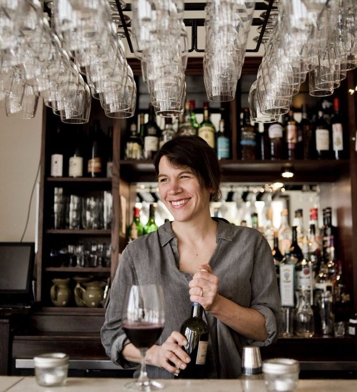 Azzura Collingwood owner Andrea Greyerbiehl behind the bar