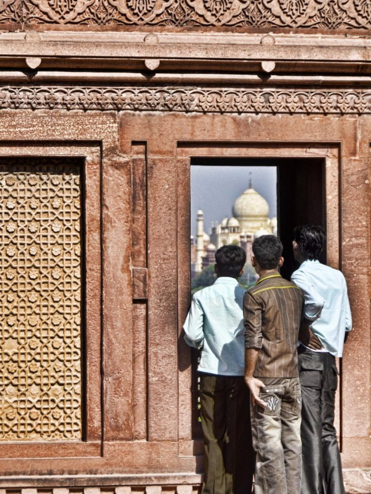 Peek at the Taj