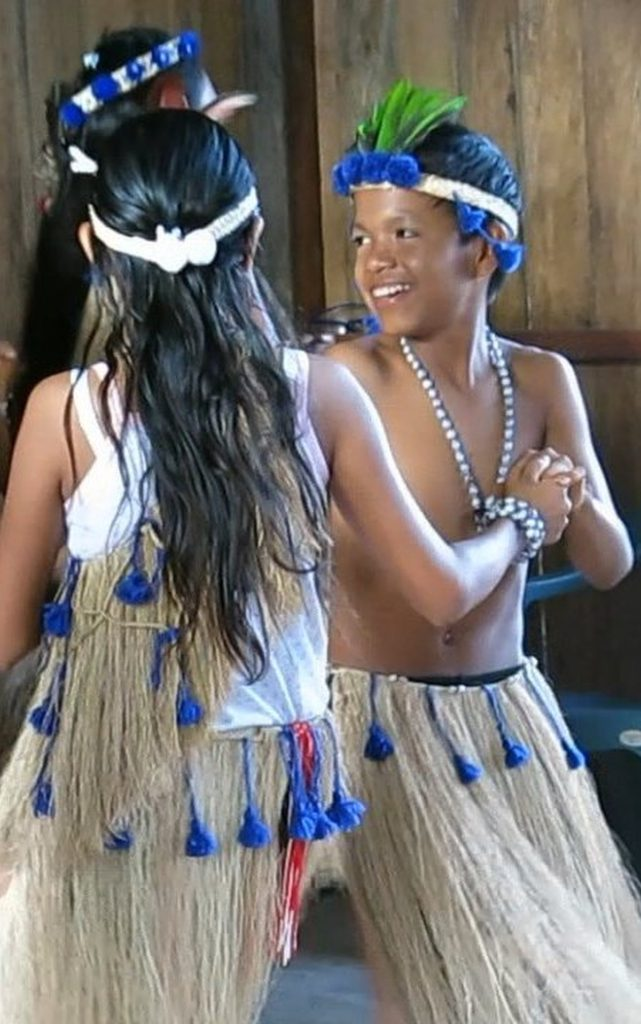 Amerindian children dance