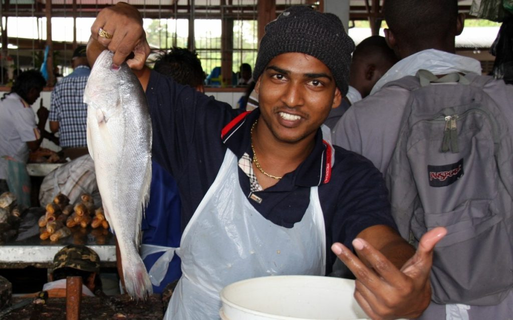 Fish vendor at Kwatta Market