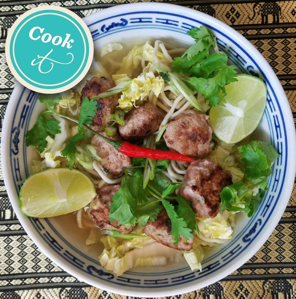Aromatic Chicken Ball Noodle Soup