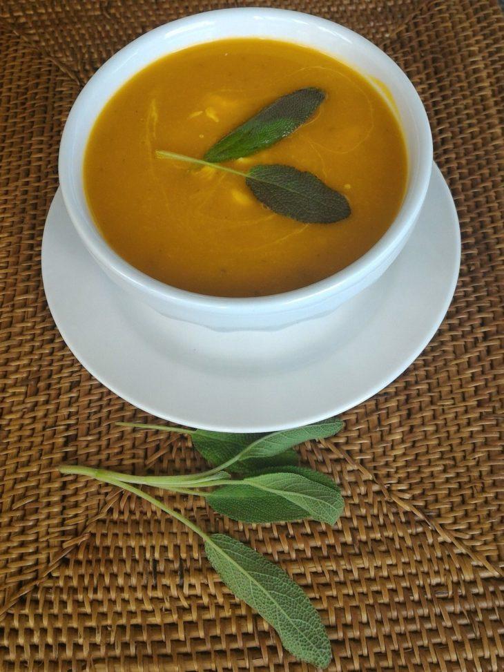 squash soup with sage