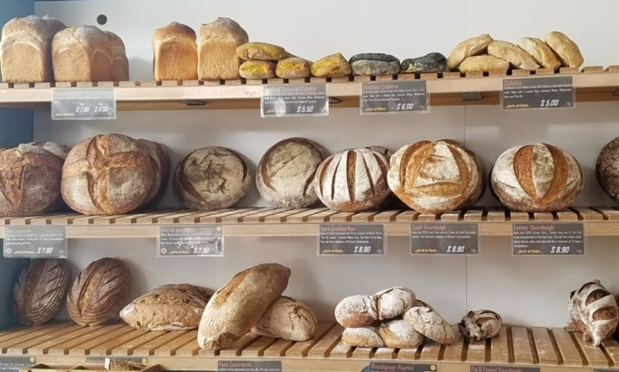Artisan breads at Olaf's
