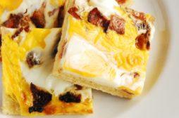 Bacon & Egg Scone Slice