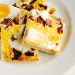 Bacon & Egg Scone Slice