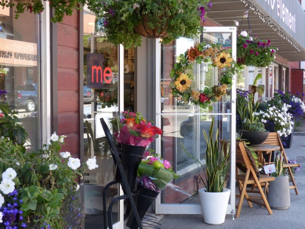 A flower shop in Kensington