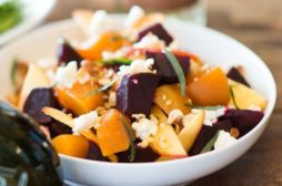 Beet Salad with Peaches