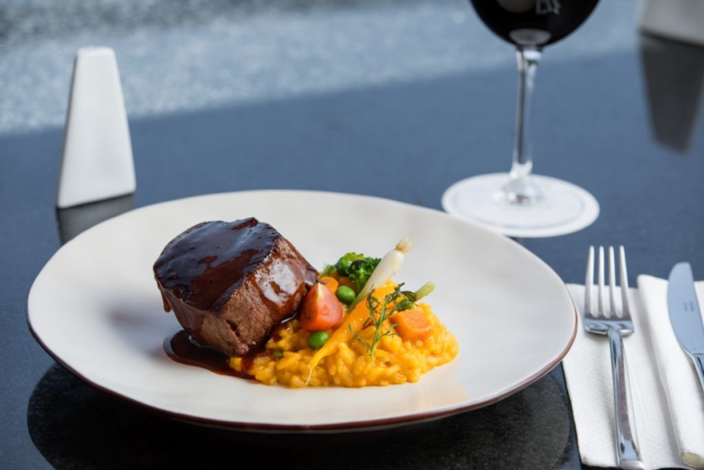 Braised Beef with Pumpkin Risotto