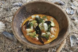 Kuri Squash and Seafood Chowder