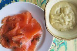 Gravlax with Avocado Purée