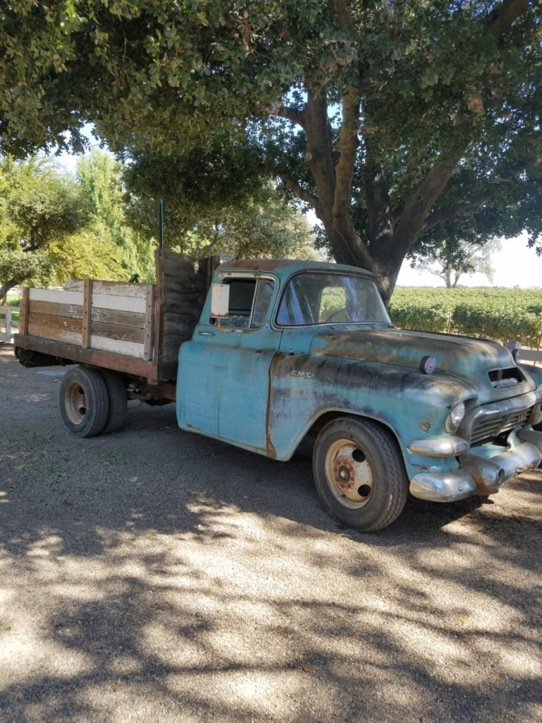 Vintage truck at Oak Farm Vineyards