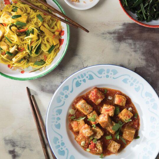 Tofu with Fresh Tomato Sauce