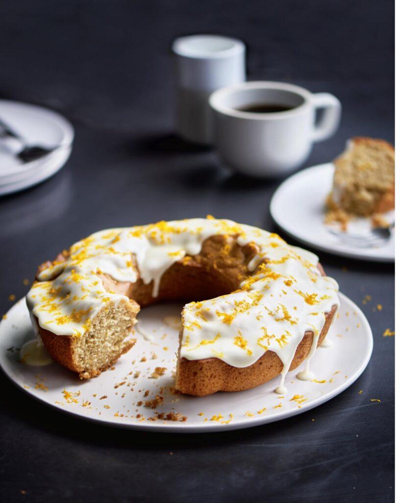 Glazed Orange and Spice Olive Oil Cake