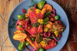 Tomato Marigold Salad