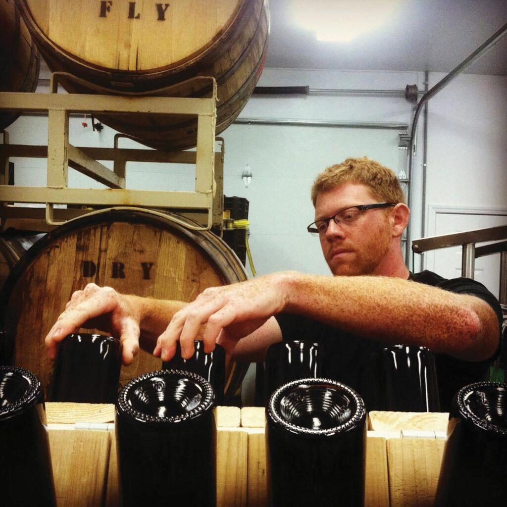 Bottling cider at Snowdrift Cider Co.