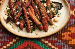 Triple-Sesame Carrots with Goat Cheese