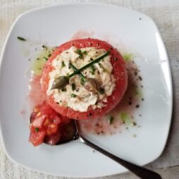 Tuna Stuffed Tomatoes