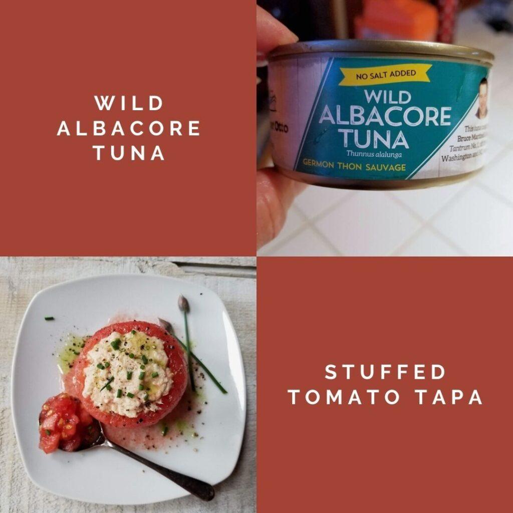 Tuna Stuffed Tomato Tapa