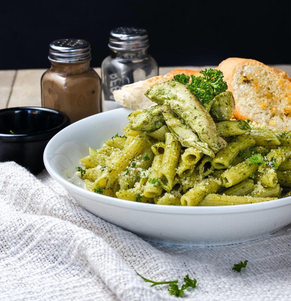 Pasta with Genoese pesto