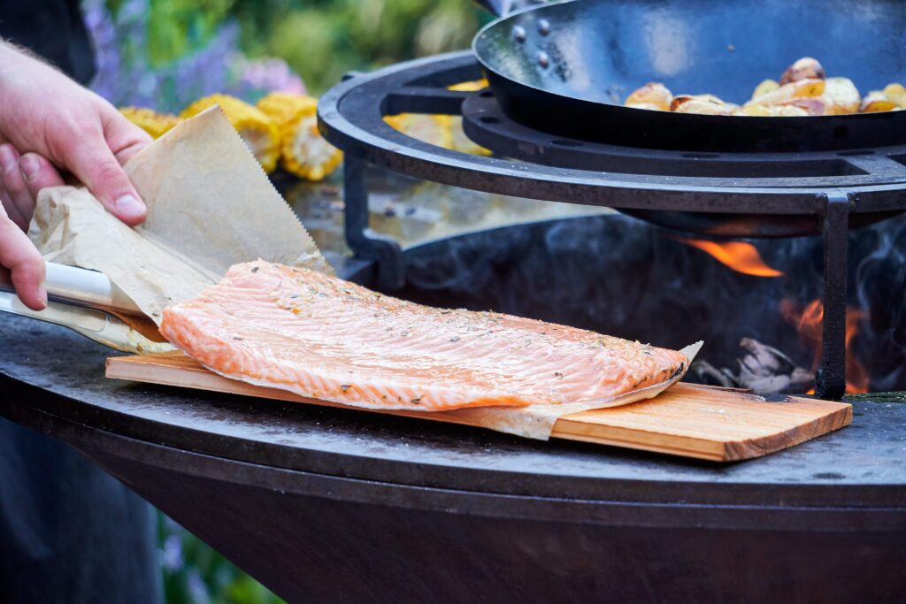 Arctic char for the grill